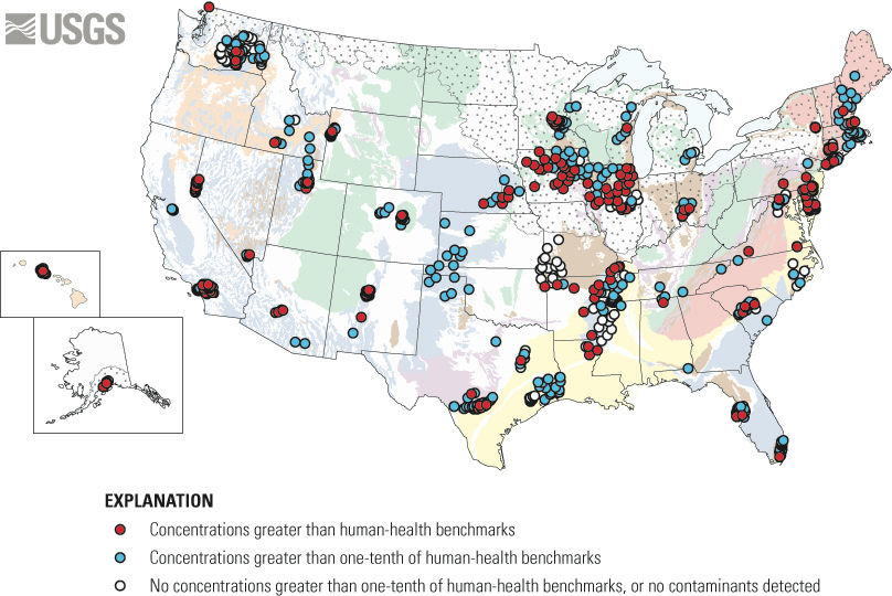 contaminants in groundwater used for public supply