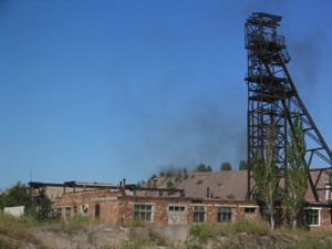 Abandoned mine buildings and structures in the Ukraine.