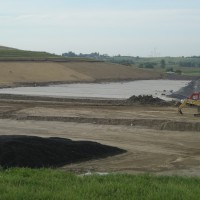 New section of a landfill under construction