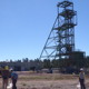 View of mine headframe