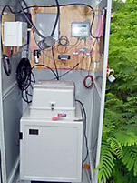 Picture of equipment installed at a river-monitoring site.