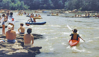 Picture of people enjoying recreation in the Chattahoochee River, Atlanta, Ga.