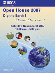 2007 USGS Open House Poster