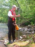 Karl explains a wading rod.