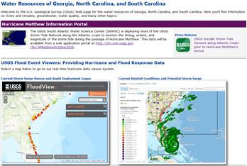 Visit the South Atlantic WSC Hurricane Matthew Portal